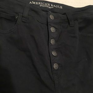 American Eagle Outfitters Jeans - American Eagle Button Fly High Rise black jeans